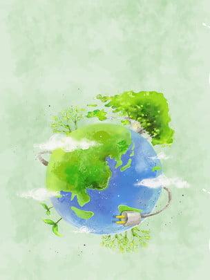 緑と環境に優しい街背景素材 , 美しい家, グリーンシティ, 低炭素 背景画像