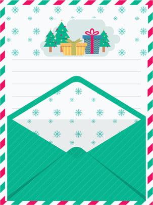 Thiệp Giáng sinh một phong bì có nền màu xanh lá cây Bức Thư Hả Hình Nền
