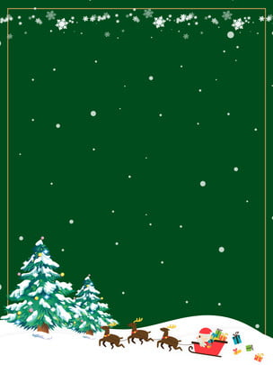 thiết kế nền xe ngựa tuyết giáng sinh xanh , Màu Xanh, Bông Tuyết, Cây Thông Giáng Sinh Ảnh nền