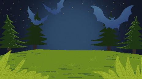 Green hand vẽ nền cây cỏ thiết kế pixelated Retro Nền Pixel Hình Nền