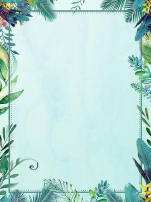 Зеленое растение кружева листья границы , Зеленое растение, кружевной, Дерево лист Фоновый рисунок