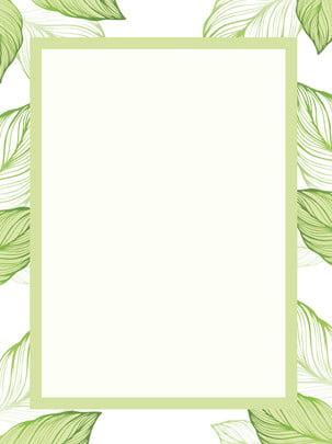 緑の小さな葉のフレームの背景 , 化粧品の背景, 新鲜な背景, 簡単な背景 背景画像
