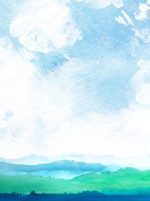 nước từ trên núi chảy xuống nền màu nước xanh xóa , Bột Nước Xóa Nền, Nền Màu Xanh., Nền Màu Nước Xanh Ảnh nền