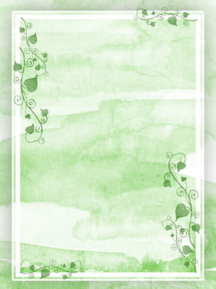 green watercolor tree vine border background , Twig Background, Tree Vine Background, Green Background Background image