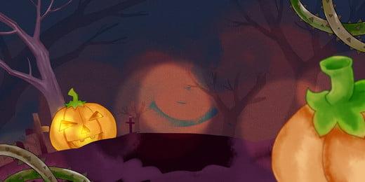 Halloween Bí Ngô Thiết kế nền Psd Nền Halloween Hình Nền
