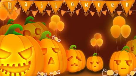 Bữa tiệc Halloween Bí Ngô Thiết kế nền Psd Nền Halloween Hình Nền