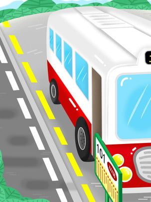 Ý tưởng nền đường đợi xe bus bằng tay , Giao Thông, Xe Buýt, An Toàn. Ảnh nền