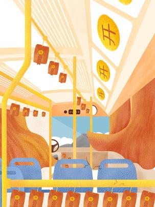 vẽ tay phim hoạt hình màu xe giao thông nền ghế , Năm Con Heo, Nền Năm Mới, Ngày Tết Ảnh nền