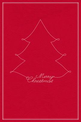 손으로 그린 크리스마스 트리 분위기 빨간색 배경 , 손으로 그린, 크리스마스 트리, 분위기 배경 이미지