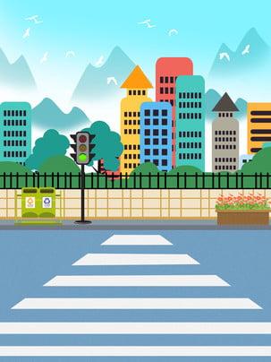 Ý tưởng nền văn minh giao thông của thành phố bằng tay , Giao Thông, Thành Phố, An Toàn. Ảnh nền