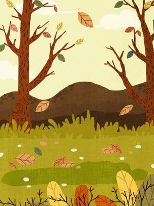 हाथ से तैयार की गई लाइन में लगे लकड़ी के चित्रण पृष्ठभूमि , हाथ से चित्रित पृष्ठभूमि, सुंदर पृष्ठभूमि, जंगल की पृष्ठभूमि पृष्ठभूमि छवि