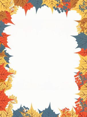 手描きの新鮮なカエデの葉の広告の背景 広告の背景 カエデの葉 葉っぱ 背景画像