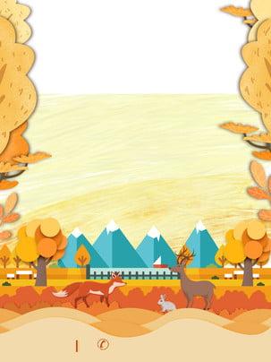 手描きの新鮮なカエデの葉の広告の背景 広告の背景 木々 手描き 背景画像