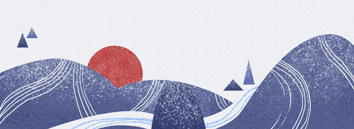 手繪日式山水背景, 手繪, 日式, 和風 背景圖片