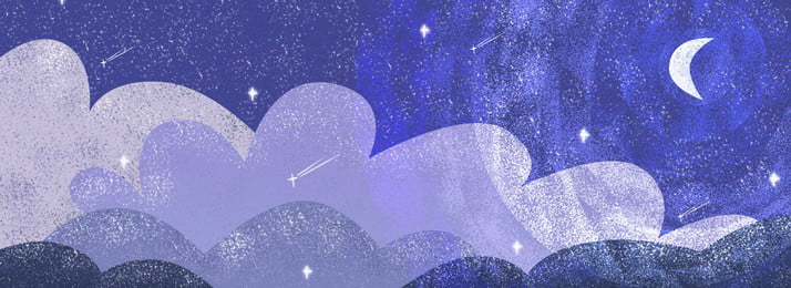 Hand Drawn Night Sky Sky Background Painted,noise,moonlight,moonlight,cloud,star,blue,night, Hand Drawn Night Sky Sky Background, Painted, Noise, Background image
