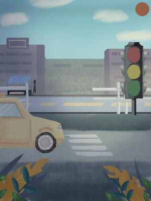 vẽ tay đêm an toàn giao thông đường bộ vật liệu nền , Vẽ Tay, Đêm, Đường Ảnh nền