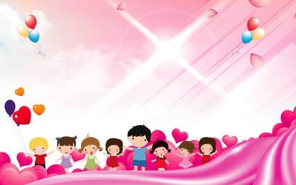 手描きの再生学生広告の背景, 広告の背景, ピンクの背景, 気球 背景画像