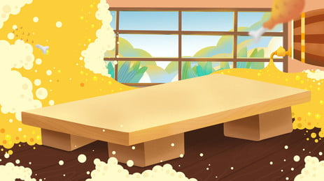 hand drawn room table beer foam background design, Hand Painted, Room, Table Background Background image