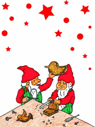 Hand drawn santa claus background , Cartoon, Lovely, Wood Background image