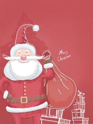vẽ tay thiết kế nền santa claus , Giáng Sinh, Áp Phích Nền, Giáng Sinh đang đến Ảnh nền