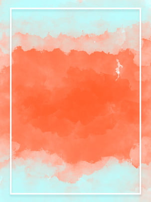 Hand Drawn Simple Blue Red Watercolor Brush Strokes Background, Hand Painted, Blue, Red, Background image