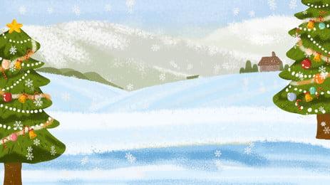 Bằng tay cây Giáng sinh tuyết tuyết Bài hát nền Cây Thông Giáng Hình Nền