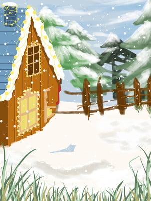 Vẽ tay bông tuyết vật liệu nền igloo Vẽ Tay Bông Hình Nền