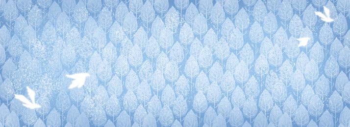 हाथ खींचा सर्दियों के दिन उड़ान पक्षियों पृष्ठभूमि, हाथ खींचा हुआ, नीला, सर्दी पृष्ठभूमि छवि