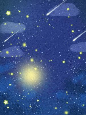Bài hát Mặt Trăng bằng tay nền bầu trời đầy sao 唯美 Bầu Trời Hình Nền