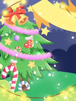 Cây thông noel chuông bằng tay của nền bài hát Giáng sinh Cây Thông Giáng Hình Nền
