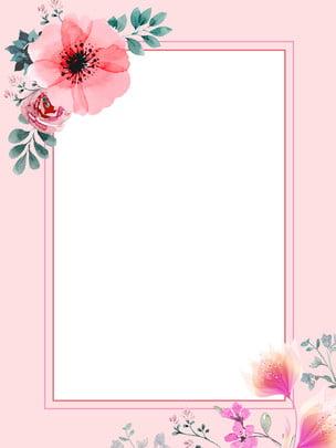 Hoa tay vẽ lá hồng thiết kế nền ấm Màu hồng Hoa Nền kỳ Giới Đơn Hoa Hình Nền