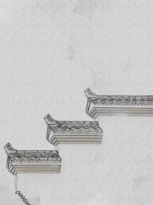 हाथ से पेंट huizhou स्याही पृष्ठभूमि सामग्री , हाथ खींचा हुआ, स्याही, Huizhou पृष्ठभूमि छवि