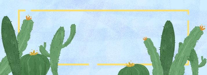 hand painted korean cactus background, Hand Painted, Korean Style, Han Feng Background image