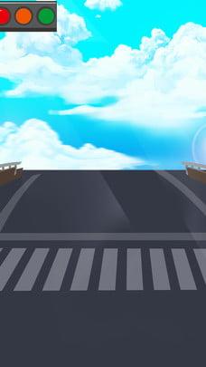 Vẽ tay an toàn vật liệu nền đèn giao thông Vẽ Tay Đường Hình Nền