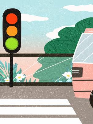 Bằng tay hướng dẫn giao thông an toàn của bài hát đèn nền văn minh Giao Thông An Hình Nền