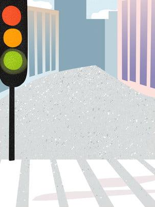 Vẽ tay an toàn giao thông văn minh du lịch thành phố vật liệu nền Vẽ Tay Đường Hình Nền