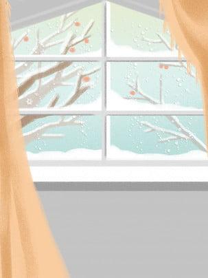 Bằng tay ra ngoài cửa sổ tiết lập Đông bài hát nền của cây khô Lập Đông Nền Hình Nền