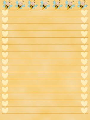 हार्दिक प्यारा कागज़ , पीला, हल्का पीला, छोटी मधुमक्खी पृष्ठभूमि छवि
