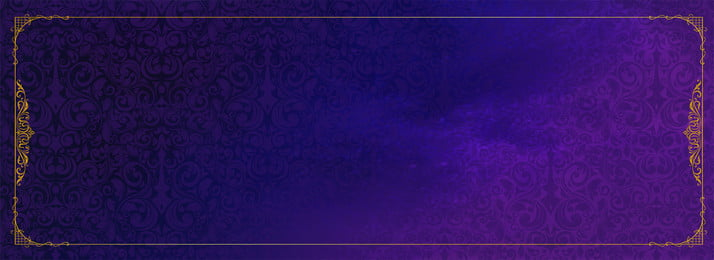 high end golden european and american border background, High End, Blue Purple, Frame Background image