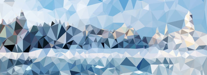 ice and snow world gradient triangle polygon background display board design, Ice World, Gradient, Triangle Background image