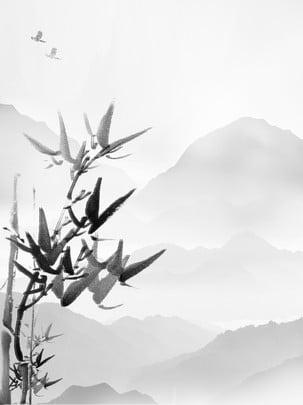 インク風景竹の背景 , インク竹の背景, 風景のインクの背景, インクの風景 背景画像