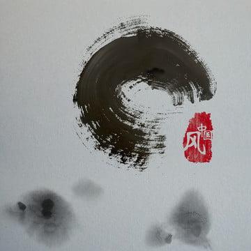 インクシールの背景中国風の背景 , インク, シール, 中華風 背景画像