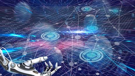 智能機器人手臂廣告背景素材, 廣告背景, 智能, 科技感 背景圖片
