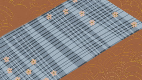 जापानी शैली मेज़पोश चेरी खिलना पृष्ठभूमि डिजाइन, हाथ खींचा हुआ, जापानी शैली, साहित्य और कला पृष्ठभूमि छवि