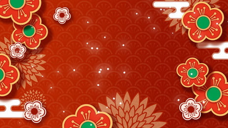 Lace Pattern Shading New Years Day Propaganda Background Pattern,new Year,yuan Zhen,spring, Festival, New, Year, Background image