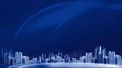 प्रकाश गतिशील शहर स्मार्ट प्रौद्योगिकी पृष्ठभूमि सामग्री, विज्ञान और प्रौद्योगिकी, बुद्धिमान, तीन आयामी पृष्ठभूमि छवि