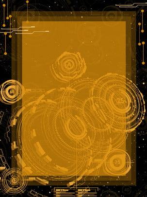 機械的ブラックゴールド技術広告の背景 , 広告の背景, ブラックゴールド, 機械類 背景画像