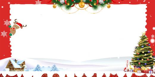 latar belakang salji kreatif merry krismas, Pokok Krismas, Rumah Salji, Hiasan Krismas imej latar belakang