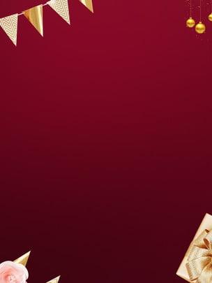 簡約紅色聖誕背景素材 2019聖誕 聖誕裝飾 聖誕背景設計背景圖庫