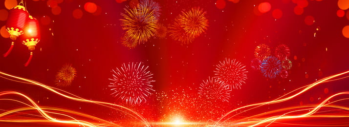 new year festive red background, Festive Background, New Year Background, Fireworks Background Background image